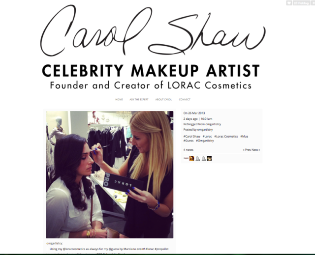 Lorac features H&M Artist Olivia Smalley