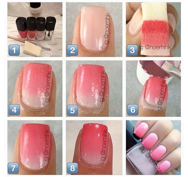 Pastel Ombre Nails Tutorial Papillon Day Spa