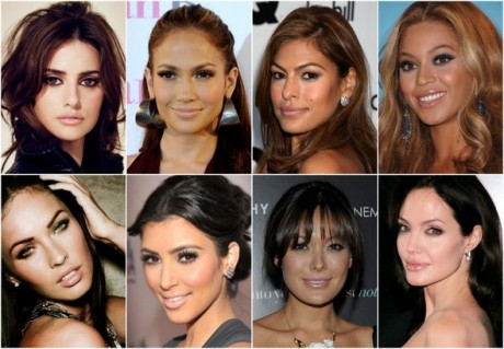 celebrity nude lips smokey eye makeup inspiration-1
