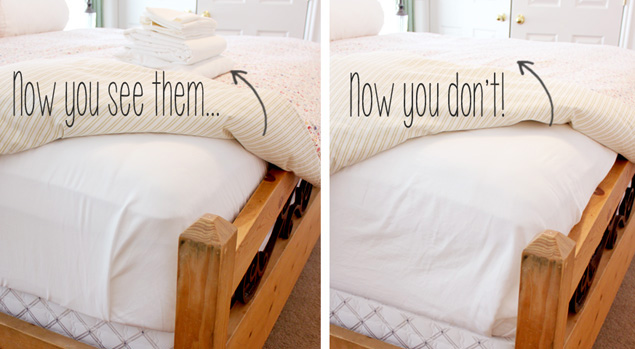 storing bedding 1b  Lastly  Lets spice up your room. 5 Different Ways to Spice Up Your Room This Fall   OMG Trends