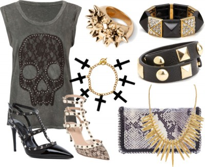 2013 style trends for women + top accessory trends 2013 + studded and spiked fashion + punk inspired high fashion
